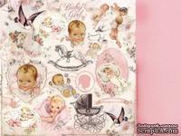 Двусторонний лист бумаги от Kaisercraft -  Bundle of Joy Collection - Crib, 30x30 см