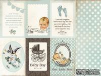 Двусторонний лист бумаги от Kaisercraft -  Bundle of Joy Collection - Cradle, 30x30 см