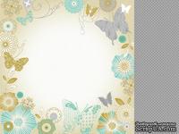 Лист двусторонней скрапбумаги от Kaisercraft - Elegance - Flight Of Fancy, 30,5х30,5 см