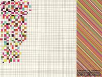 Лист двусторонней скрапбумаги от Kaisercraft - Hopscotch Collection - Marvellous, 30,5х30,5 см