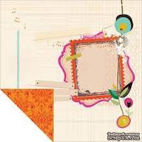 Лист двусторонней скрапбумаги от Kaisercraft - Hopscotch Collection - Wonderous, 30,5х30,5 см