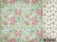 Лист двусторонней скрапбумаги от Kaisercraft - Needle & Thread - Embroidery, 30,5х30,5 см