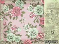 Лист двусторонней скрапбумаги от Kaisercraft - Needle & Thread - Fabric, 30,5х30,5 см