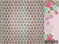 Лист двусторонней скрапбумаги от Kaisercraft - Needle & Thread - Котушки - Bobbin, 30,5х30,5 см