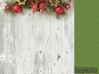 Двусторонний лист скрапбумаги от Kaisercraft - Basecoat Christmas Collection - Bells, 30 x 30 см.