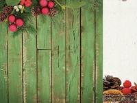 Двусторонний лист скрапбумаги от Kaisercraft - Basecoat Christmas Collection - Natural, 30 x 30 см.