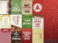 Двусторонний лист скрапбумаги от Kaisercraft - Basecoat Christmas Collection - Glitter, 12 карточек