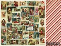 Двусторонний лист скрапбумаги от Kaisercraft - Yuletide Collection - Christmas - Christmas Eve, 30,5 х 30,5 см.