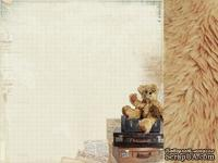 Двусторонний лист скрапбумаги от Kaisercraft - Teddy Bears Picnic Collection - Bear Hug, 30,5 х 30,5 см.