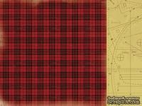 Двусторонний лист скрапбумаги от Kaisercraft - Teddy Bears Picnic Collection - Patchwork, 30,5 х 30,5 см.