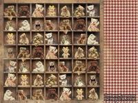 Лист скрапбумаги от Kaisercraft - Teddy Bears Picnic Collection,  двустронний, 30х30 см