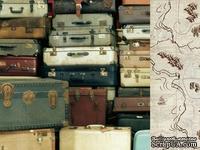 Двусторонний лист скрапбумаги от Kaisercraft - Teddy Bears Picnic Collection - Suitcase, 30,5 х 30,5 см.