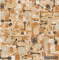 Лист двусторонней скрапбумаги от Kaisercraft - Clee, 30х30