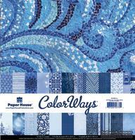 Набор двусторонней скрапбумаги от Paper House - Sapphire Paper Pack, 30,5x30,5 см, 12 шт
