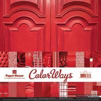 Набор двусторонней скрапбумаги от Paper House - Rouge Paper Pack, 30,5x30,5 см, 12 шт