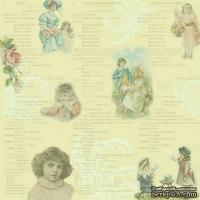 Лист одностроней скрапбумаги Rose от Melissa Frances, 30х30 см