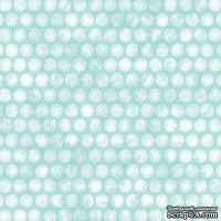 Лист скрапбумаги от Melissa Frances - Aqua Doily - 30х30 см