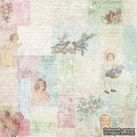 Лист скрапбумаги от Melissa Frances - Little Girls Collage - 30х30 см