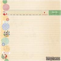 Лист одностронней скрапбумаги от Melissa Frances - Holiday Notes