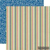 Лист двусторонней скрапбумаги Field Trip, Paper & Glue, Echo Park, 30х30 см - ScrapUA.com