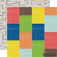 Лист двусторонней скрапбумаги Library Card, Paper & Glue, Echo Park, 30х30 см