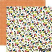 Лист двусторонней скрапбумаги Pie Charts, Paper & Glue, Echo Park, 30х30 см