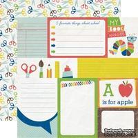 Лист двусторонней скрапбумаги Journaling Cards, Paper & Glue, Echo Park, 30х30 см - ScrapUA.com