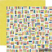 Лист двусторонней скрапбумаги Book Worm, Paper & Glue, Echo Park, 30х30 см