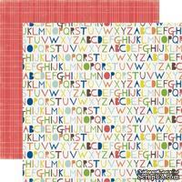 Лист двусторонней скрапбумаги Alphabet, Paper & Glue, Echo Park, 30х30 см
