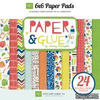 Набор бумаги двусторонней от Echo Park,  Paper & Glue, 15х15см.