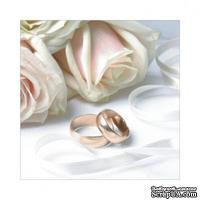 "Салфетка  ""Just Married"", цвет фона: белый, размер: 33х33 см"