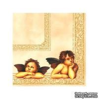 """Салфетка """"Ангелы"""", размер: 25х25 см, 1 шт."""