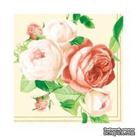 "Салфетка ""Танец осенних цветов"", размер: 33х33 см, 1 шт."