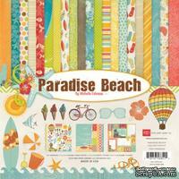 "Набор бумаги от Echo Park ""Paradise Beach"", 30x30, 12 листов"