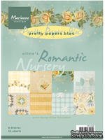 Набор бумаги Marianne Design - Marianne's Pretty Paper Bloc - Romantic Nursery , 14,8х21 см, 16 листов