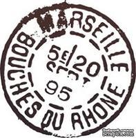 Акриловый штамп PC03c Почтовый штемпель, размер 2,9 * 2,9 см