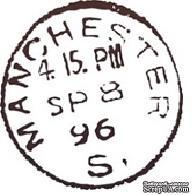 Акриловый штамп PC03d Почтовый штемпель, размер 2,5 * 2,7 см
