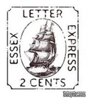 Акриловый штамп PC15 Почтовая марка, размер 3,1 * 3,6 см