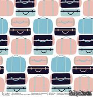 Лист бумаги для скрапбукинга от Polkadot  - Чемоданы, коллекция На чемоданах, 30х30 см, плотность 190 гр\м2