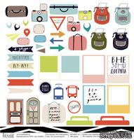 Лист бумаги для скрапбукинга от Polkadot  - Я путешествую!, коллекция На чемоданах, 30х30 см, плотность 190 гр\м2