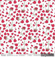 Лист бумаги для скрапбукинга от Polkadot - Ботаника, коллекция школа, 30х30 см, плотность 190 гр\м2