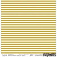 Лист бумаги для скрапбукинга от Polkadot  - Полоски,  коллекция Ветер перемен, 30х30 см, плотность 190 гр\м2
