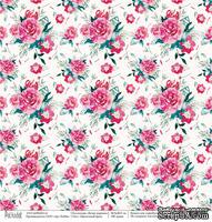 Лист бумаги для скрапбукинга от Polkadot  - Цветочный бриз, коллекция Ветер перемен, 30х30 см, плотность 190 гр\м2