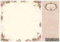 Лист двусторонней бумаги от Pion Design - Rose frame - From my Heart II, 30х30