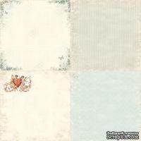 Лист односторонней бумаги от Pion Design - Forget me not - From my Heart II, 30х30