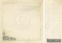 Лист двусторонней бумаги от Pion Design - Cornflower - Grandma's school book, 30х30