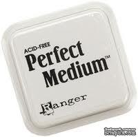 Чернила для эмбоссинга Ranger - Clear Perfect Medium Stamp Pad, размер 7,5х7,5 см