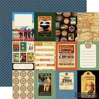 Лист скрапбумаги от Echo Park - World Traveler - двусторонняя, 30х30 см