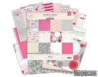 Набор скрапбумаги от Pink Paislee - Secret Crush, 30х30 см, 24 односторонних листа