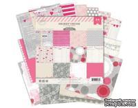 Набор скрапбумаги от Pink Paislee - Secret Crush, 15х15 см, 24 односторонних листа